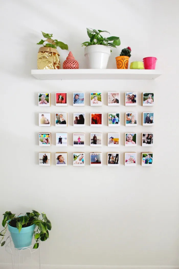 instagram polaroid block gallery wall revisited a joyful riot. Black Bedroom Furniture Sets. Home Design Ideas