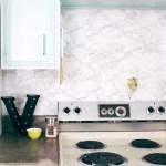 DIY Marble Contact Paper Backsplash