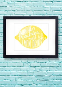 Free Printable Wizard of OZ, Over the Rainbow, Where Troubles Melt Like Lemond Drops print