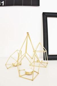 diy geometric metallic tealight holders make from skewers! via ajoyfulriot.com