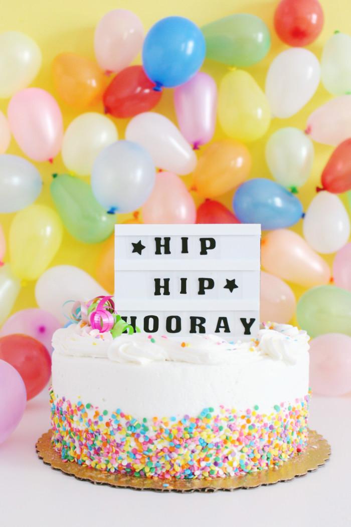 Lightbox Cake Topper DIY A Joyful Riot