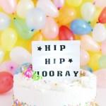 Lightbox Cake Topper DIY