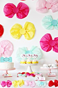 This adorable bow themed party is perfect for gender reveals, girls of all ages, hello kitty or minnie mouse!   A Joyful Riot