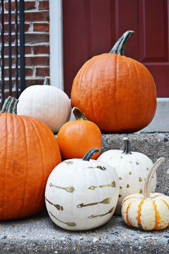 DIY embossed pumpkins