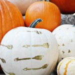 DIY Gold Embossed Pumpkins