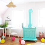 Machelle's Bright and Colorful Craft Room