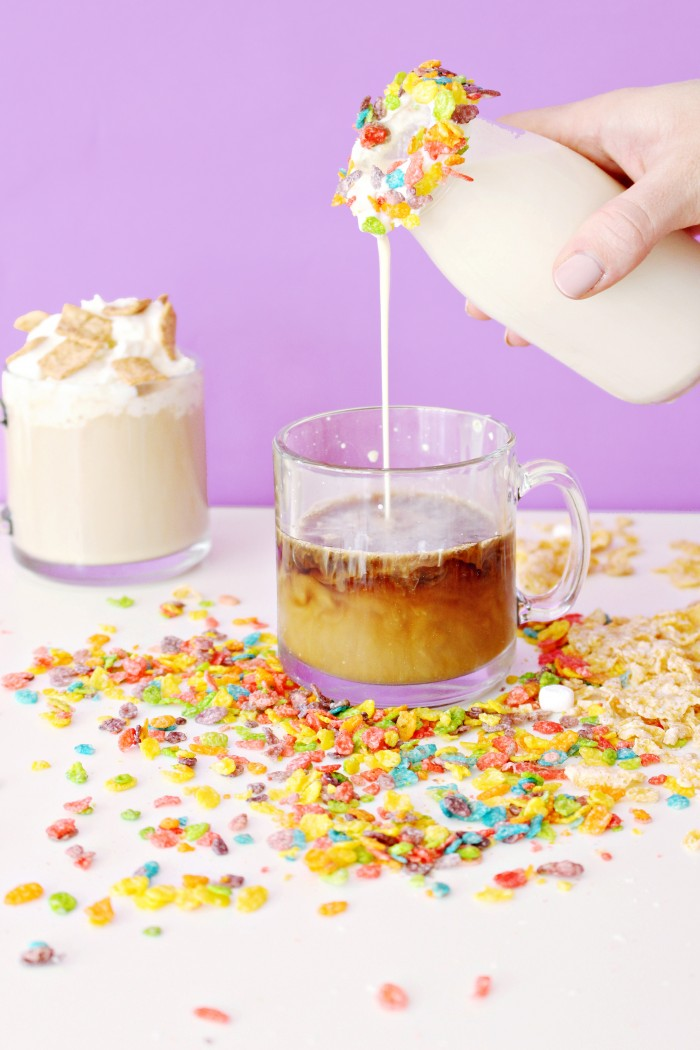 The best coffee and hot cocoa creamers--cereal flavored! Cereal milk creamers will make all your latte dreams come true.The best coffee and hot cocoa creamers--cereal flavored! Cereal milk creamers will make all your latte dreams come true.