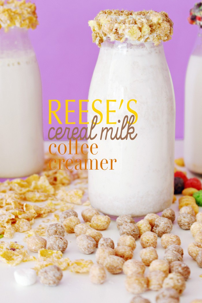 Reese's Puffs coffee and hot cocoa creamers! Cereal milk creamers will make all your latte dreams come true.
