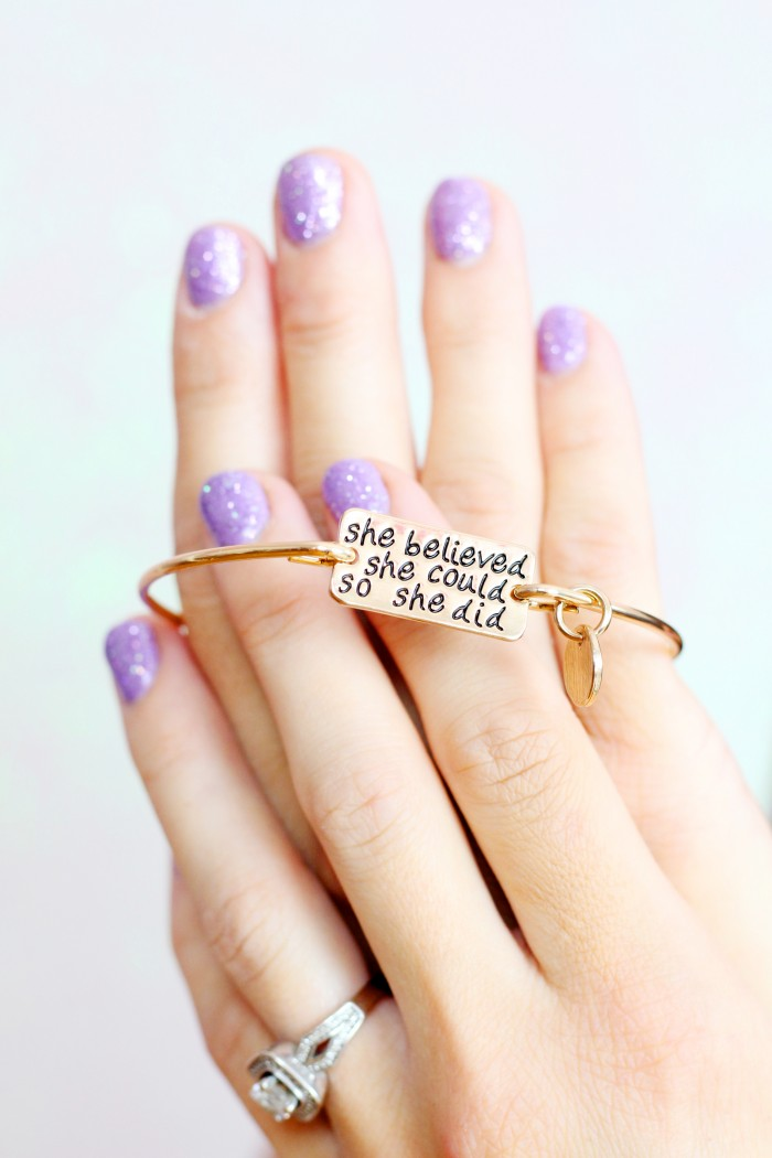 She believed she could so she did quote bracelet