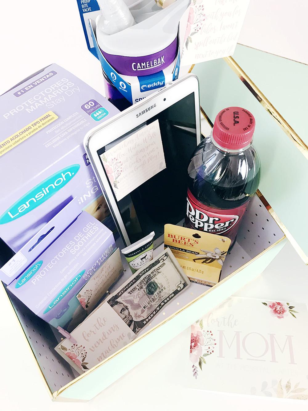 Hospital essentials for mom diy baby shower gift a joyful riot hospital essentials for mom baby shower gift t negle Images