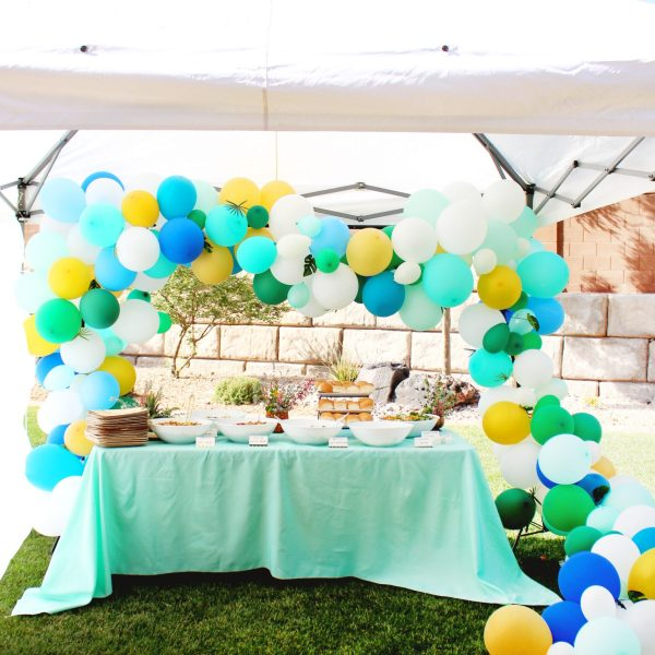 Modern Tropical 80th Birthday Party