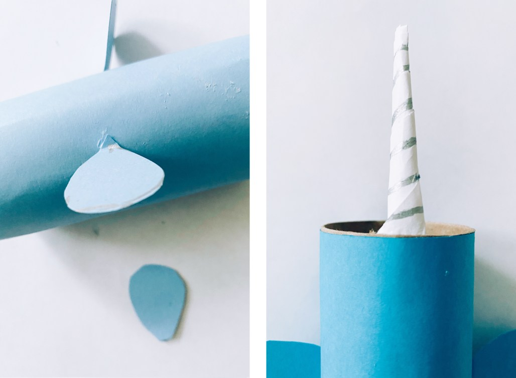 Narwhal toilet paper roll craft instructions