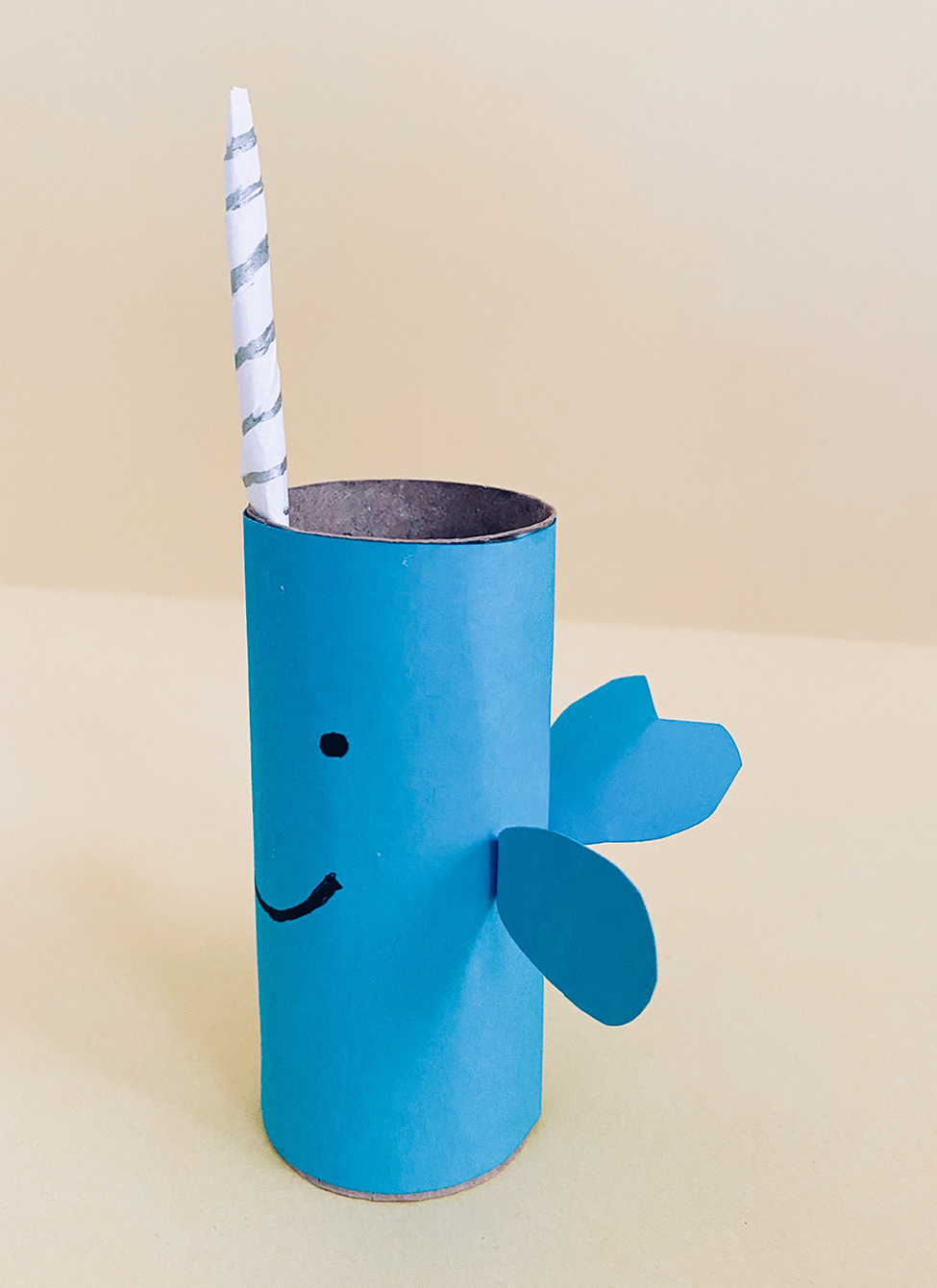 Narwhal Toilet Paper Roll Craft