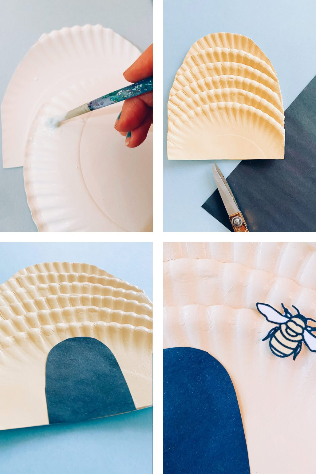 paper plate beehive instructions