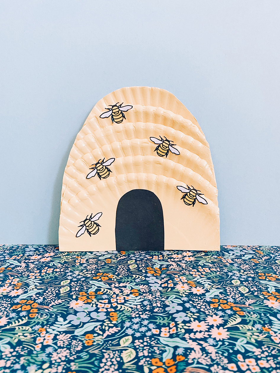 paper plate beehive