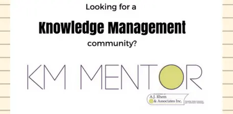 A personal invitation to join KM Mentor