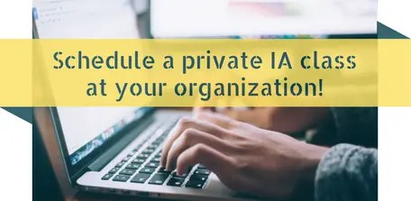 schedule a private information architecture class