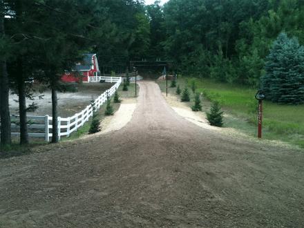 Grade driveway 4