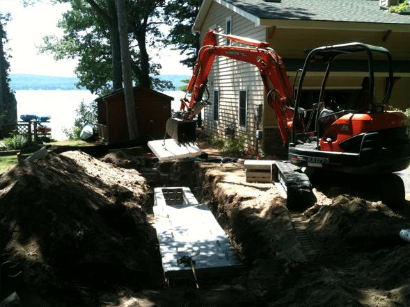 Installing block drywells 2 pic 4