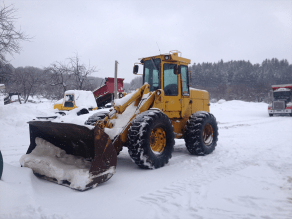 We plow commercially too with loaders