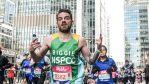 Andrew Smallwood running the London Marathon
