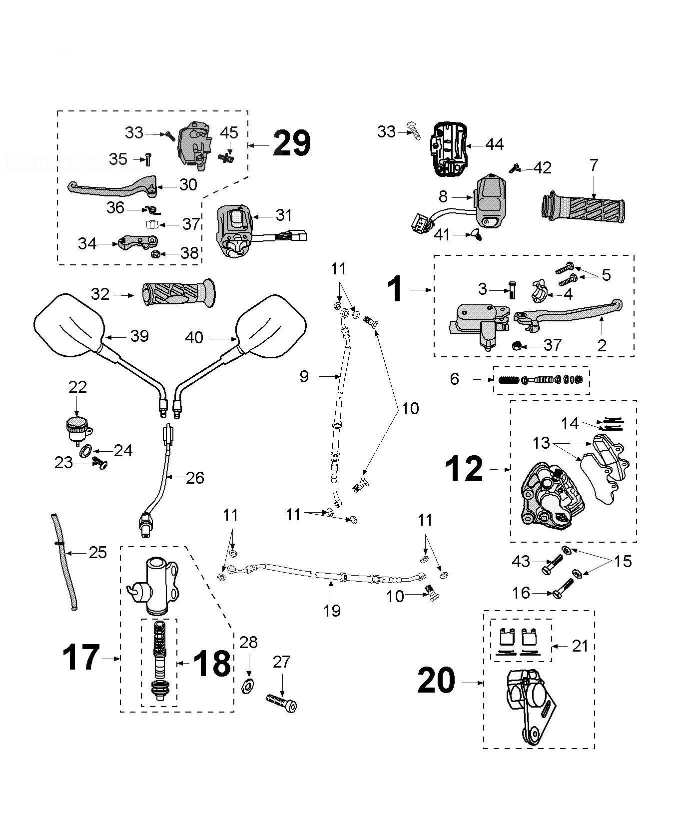 Peugeot Xps Sm Brake Caliper Mirror Grip
