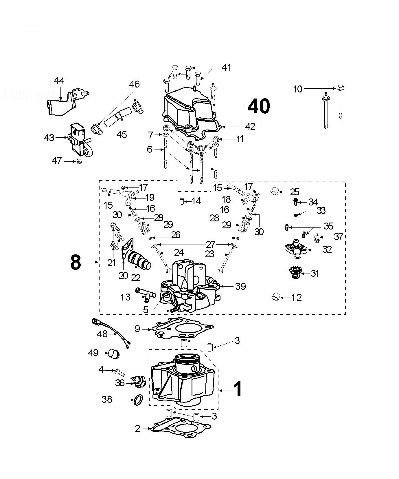 Peugeot Jetforce 125 Compressor Cylinder Head Cylinder