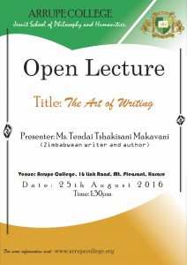 Open Lecture The Art of Writing
