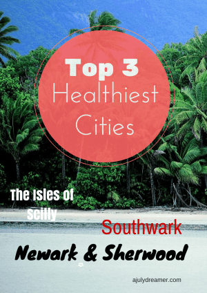 Top 3 healthiest places to live in England