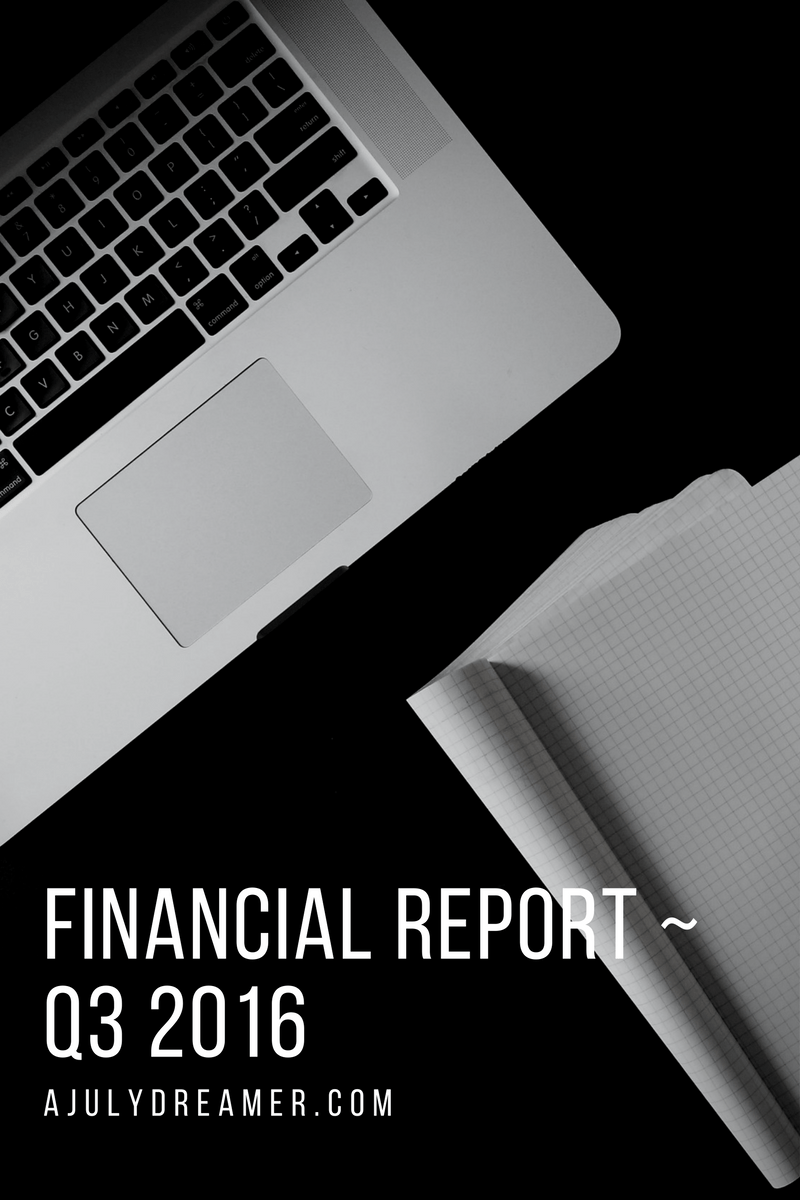 Financial Report ~ Q3 2016