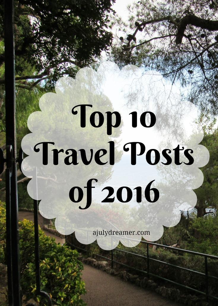 Top 10 Travel Posts of 2016