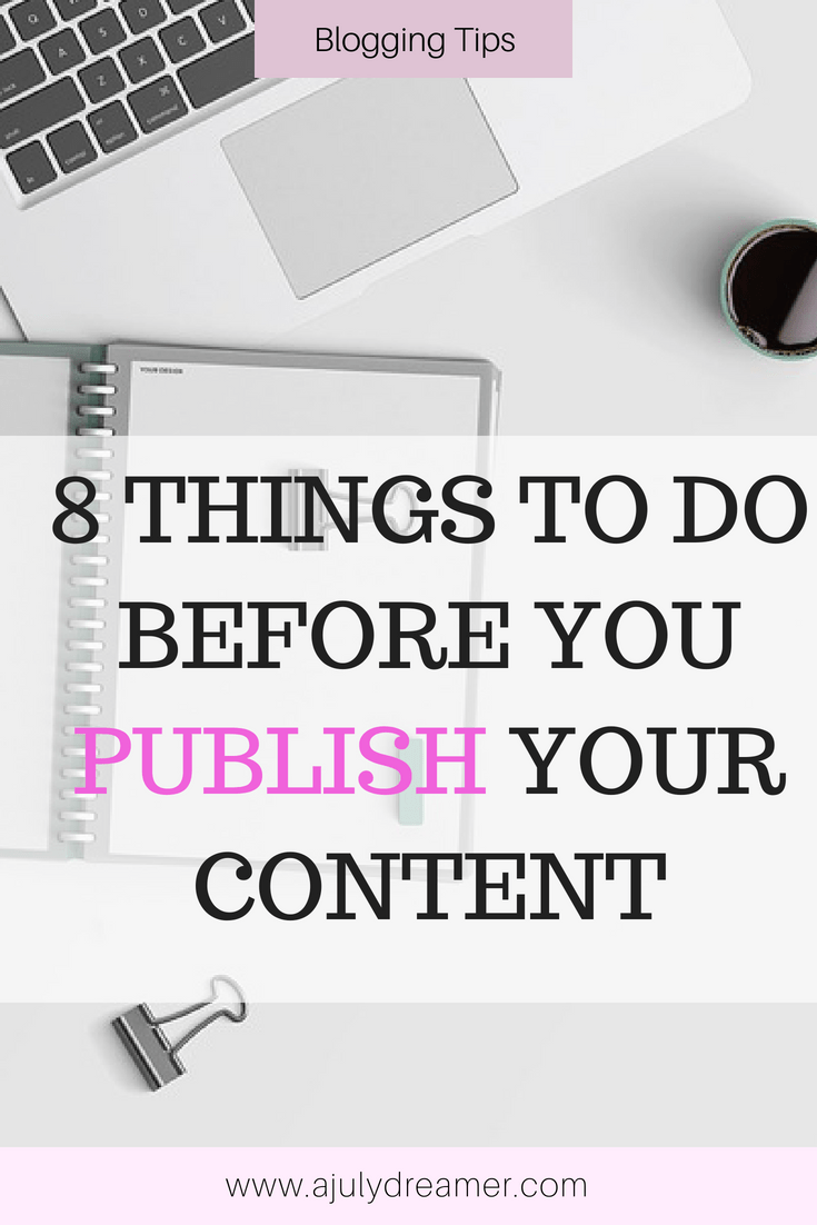 Before you Publish, Do this!