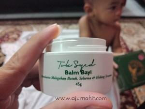 Legakan selsema, batuk dan hidung tersumbat dengan Balm Bayi Tok Syed