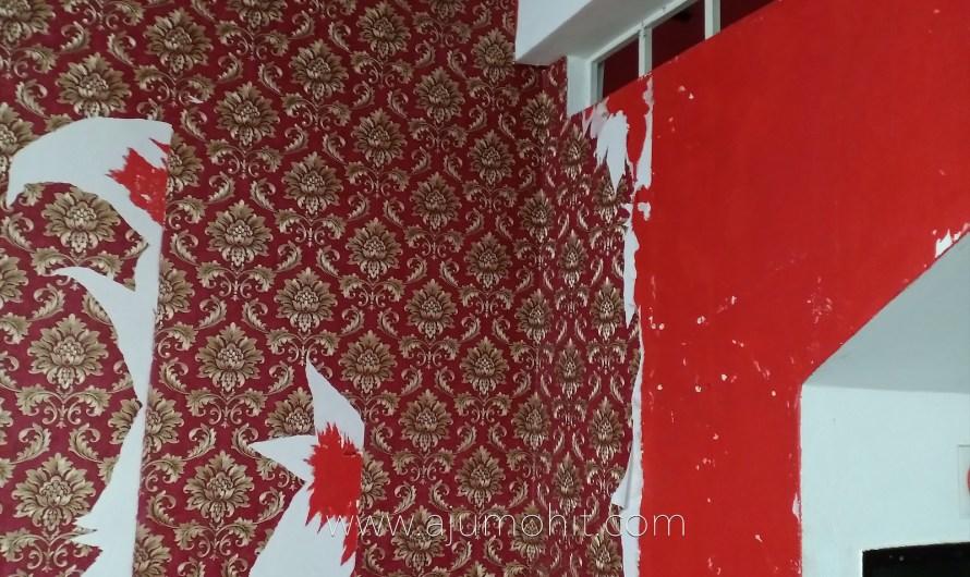 Cara tanggalkan wallpaper dinding dengan mudah