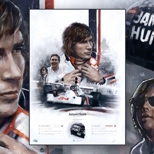 James Hunt Formula 1 Wall Art F1 Poster