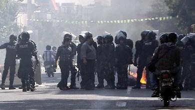 صورة مظاهرات في طهران بسبب هبوط قيمة العملة الايرانية