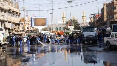 صورة كربلاء : مديرية البلدية تباشر بحملة لتنظيف المدينة بعد زيارة عاشوراء