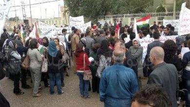 صورة كركوك : تظاهرات مطالبة بالغاء عمليات دجلة