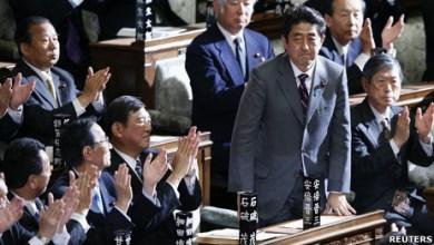 صورة انتخاب المحافظ شينزو آبي رئيسا لوزراء اليابان