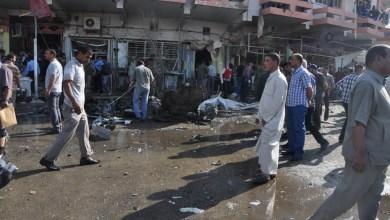 صورة سقوط العشرات بسيارة ملغمة قرب مطعم شعبي ومجمع سكني لطلبة جامعة القادسية