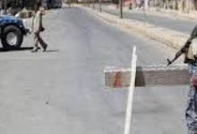 صورة حظر شامل على التجوال تفرضه القوات الامنية في الفلوجة