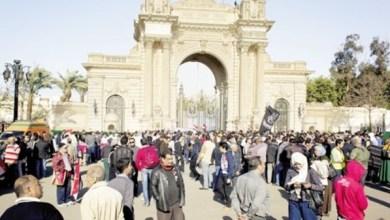 صورة دعوات للزحف على قصر القبة إذا رفض مرسي الرحيل