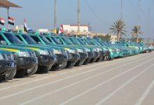 صورة الديوانية / مديرية الشرطة تعيد خمسين سيارة لمديرية النجدة