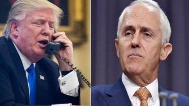 """صورة ترامب ينهي """"أسوأ مكالمة هاتفية"""" مع رئيس وزراء استراليا"""