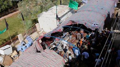 صورة تفجير انتحاري مزدوج في حفل زفاف بتكريت شمال بغداد