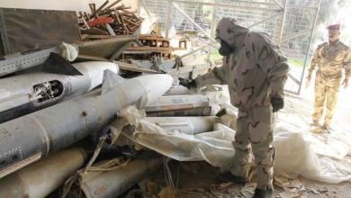 صورة بالصور العثور على مواد كيمياوية وصواريخ ايسر الموصل