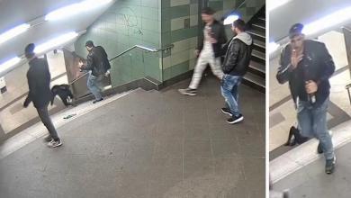 صورة متهم يعترف بركل امرأة محجبة  في محطة أنفاق برلين