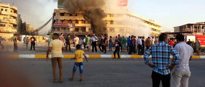 انفجار سيارة مفخخة قرب نادي الصناعة شرقي بغداد