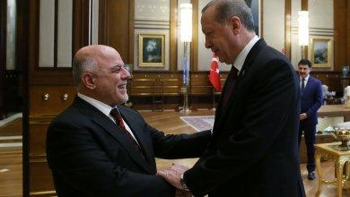 صورة اردوغان يستقبل رئيس الوزراء العبادي في انقرة