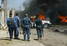 صورة اصابة ثلاث عناصر من الشرطة بانفجار عبوة ناسفه جنوبي بغداد